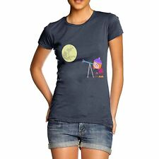 Twisted Envy Women's Secretly Spying on the Moon T-Shirt