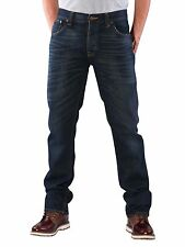 NUDIE 'Hank Rey - Organic Dusty Steel' Relaxed Blue Jeans 30 RRP: £125.00