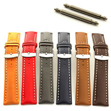 Men's Two-Piece Padded Genuine Leather Watch Strap Band Sahara Spring Bars