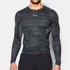 Under Armour HeatGear CoolSwitch Mens Grey Long Sleeve Gym Compression Top