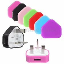 Mains Wall Home UK USB Plug Charger Adapter For iPhone Samsung Phone & Tablets