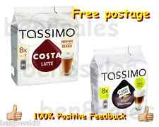 Discs Tassimo 16 Coffee Pack Pods T Total Costa New 8 Latte Carte Noire Servings
