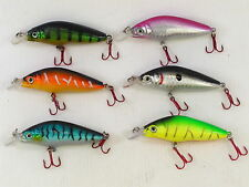 6 Fladen Warbird Crank Minnow Floating Plugs 8cm 8g Rattler Perch Salmon Bass