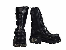 New Rock Stiefel / Boot 703 mit Schnallen / Nieten / Reactor Sohle #5050