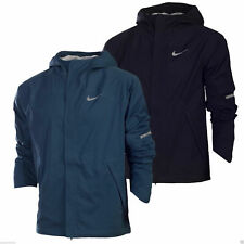 Nike Men's Sheildrunner Hooded Jacket 689473-010/460 Running Black Blue Sport