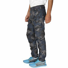 Greentree Mens Cargo Track Pant Army Print Pure Cotton Casual Trouser MASR30