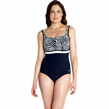 Speedo Sculpture Contour Print Swimsuit Swimming Costume Black White Choose Size