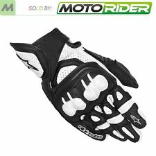 Alpinestars GP-X Short Cuff Leather Motorcycle Gloves | Black/White | All Sizes