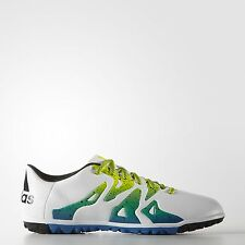 SCARPE CALCETTO ADIDAS X 15.3 TF FOOTBALL SHOES TURF S74662 WHITE/BLUE/GREEN