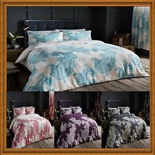 NEW PAISLEY CRESCENT DUVET SET+PILLOW CASES OR+ SHEET OR FULL SET OR CURTAINS
