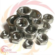 A2 Stainless Hexagon Full Nut M1.6 M2 M2.5 M3 M4 M5 M6 M7 M8 M10 M12 M14 M16 M20