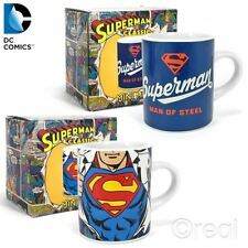 NEUF DC SUPERMAN MAN OF STEEL ou logo poitrine mini tasses café expresso