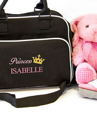 Personalised Prince Princess Baby Travel Changing Nappy Holdall Bag Boy Girl