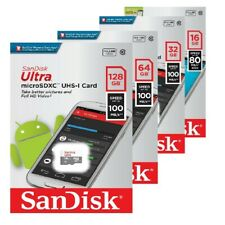 SanDisk 8GB 16GB 32GB 64GB 128GB Micro SD SDHC SDXC MicroSDXC Class10 ULTRA IT