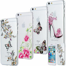 APPLE IPHONE SLIM TPU CASE STRASS GLITTER TRASPARENTE CUSTODIA BRILLARE COVER