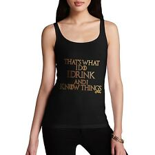 Twisted Envy Women's I Drink And I Know Things Tank Top