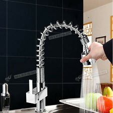 Modern & Traditional Swivel & Pull Out Spout Chrome or Brushed Steel Kitchen Tap