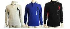 BNWT RALPH LAUREN LUXURY POLO MESH SHIRT BIG PONY IN WHITE /BLACK /BLUE RRP£125