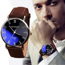 New Fashion Leather Stainless Steel Sport Analog Quartz Business Men Wrist Watch