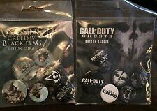 Assassins Creed Black Flag Button Badges Call of Duty COD Ghost Button Badgesx6