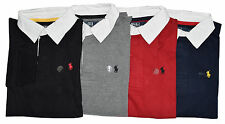 Custom Fit Small Pony Ralph Lauren Long Sleeve Rugby Polo T Shirt for Men