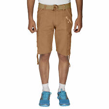 Greentree Mens Cotton Shorts 6 Pocket Cargo khaki Shorts MASR41
