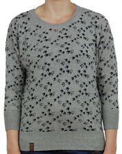 Naketano Damen Sweater Maja will Vögel(n)  Grey Melange
