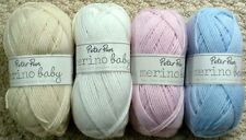 Knitting Wool 50g Peter Pan Baby Merino Wool 100% Pure Wool 4ply Knitting Yarn