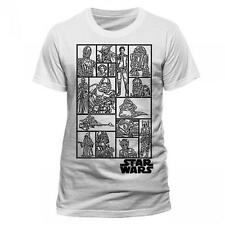 Star Wars - Character Collage Short Sleeve Cotton T-Shirt New Official Lucasfilm