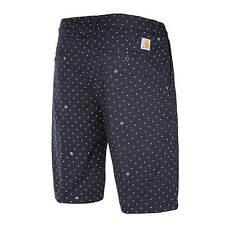 Carhartt Johnson Short dunkelblau deep night Copyright Print - Herren Bermuda