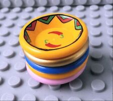 LEGO DISH / BOWL ~ Minifigure Food Plate Gold Pink Blue Orange Chili Peppers