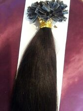 "22""NAIL TIP/U TIP 1G #1B AAAgrade HUMAN HAIR EXTENSIONS DOUBLE BONDED STRAIGHT"