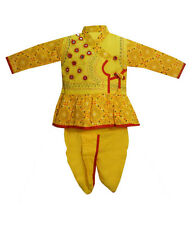 Indo Red Ring Designe Kurta Dhoti For Kids