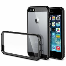 Soft TPU Silicon Bumper case with Transparent Back Case for Apple 5,5S,SE,6,6s