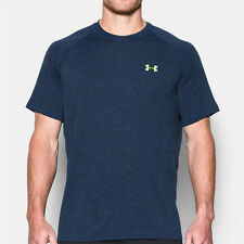 Under Armour Tech Mens Blue Short Sleeve Running Sports T Shirt Tee Top