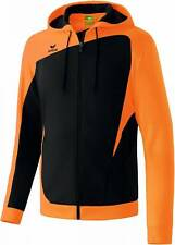 Erima Club 1900 Trainingsjacke mit Kapuze schwarz-neon orange Kinder NEU 68379
