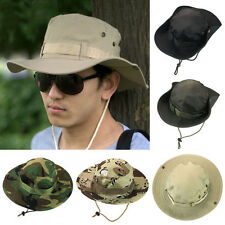 Bucket Hat Boonie Hunting Fishing Outdoor Sports Brim Military Wide Cap кепка
