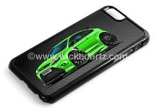 RetroArtz Cartoon Car Ford Focus RS MK2 Green (BK Alloys) iPhone 6/6+ Case/Cover