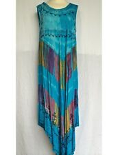 ROBE LONGUE GRANDE TAILLE TURQUOISE JK-35