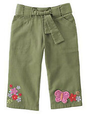 Gymboree Tea Garden green butterfly capri pants NWT