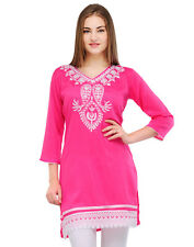 Yogalz Women Pink Poly Rayon Designer Casual Party Wear Girls Kurti KRT6026_Pnk