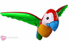 INFLATABLE BLOW UP PARROT 58CM SUMMER HAWAIIAN PARTY PIRATE COSTUME FANCY DRESS