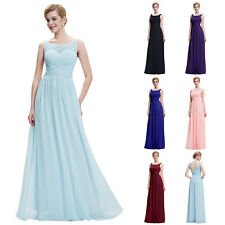 Womens Long Maxi Cocktail Bridesmaid Dress Formal Prom Party Evening Ball Gown