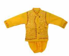 Indo Yellow Coin Kurta Dhoti For Kids (0-5 Year)