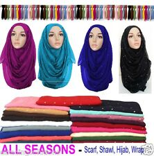 PLAIN SHIMMER PATTERN MAXI BIG LARGE SCARF SHAWL SARONG BEST QUALITY HIJAB-SToNE