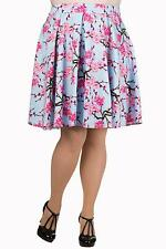 Banned Cherry Blossom Knee Length Plus Size Skirt