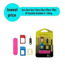 4 IN 1 Metal Sim Card Adapter For Iphone-Samsung-Sony-Lenovo-Micromax-Etc