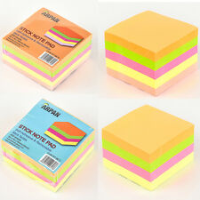 Sticky memo notes neon block pad 76 x 76 mm 400/500 sheets Sticky notes/office
