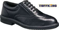 Black Steel Toe Cap Oxford Brogue Executive Safety Work Shoes Tuffking 9076 S1P