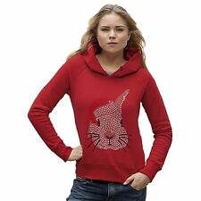 Twisted Envy Women's Bunny Claus Rhinestone Diamante Hoodie